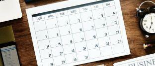 Kalenderblatt: Der Versicherer Uniqa untersuchte, an welchen Daten die meisten Kfz- und Haushaltsunfälle passieren.