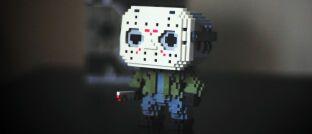 """8-Bit-Version der Horrorfilmfigur Jason Voorhees: In der Horrorfilmreihe """"Freitag der 13."""" meuchelt er mit Eishockey-Maske im Gesicht mit Vorliebe Jugendliche. An der Börse ist der Freitag der 13. weniger schrecklich."""