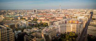 Skyline von Berlin: Sitz des digitalen Vermögensverwalters Liqid, der mit seinem Dachfonds schwerpunktmäßig in europäische und US-amerikanische Wohn- und Gewerbeimmobilien investieren will