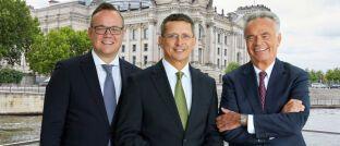 AfW-Vorstände Frank Rottenbacher, Norman Wirth und Matthias Wiegel (v.li.). Rottenbacher und Wirth wurden für fünf weitere Jahre in ihrem Amt bestätigt.