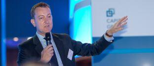 Europa-Chef der Capital Group Hamish Forsyth bei der Eröffnung des Frankfurter Büros der Gesellschaft.