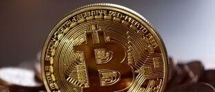 Bitcoin-Münze: Derzeit liegt der Preis bei etwas über 8.000 US-Dollar.