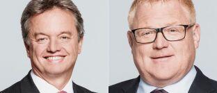 Philipp Waldstein (l.), Chef der Meag, verlässt Ende Oktober 2019 das Unternehmen. Seine Nachfolge tritt Andree Moschner an.