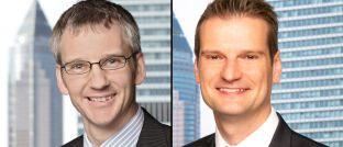 Peter Flöck (links), langjähriger Leiter für Produkte und Mitglied der Geschäftsleitung bei Universal-Investment, und sein Nachfolger Victor Bemmann.