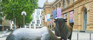 Bulle und Bär: An der Frankfurter Börse sind ab sofort vier neue Amundi-ETFs handelbar.