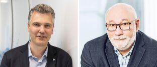 Herbert Schneidemann (l.) und Walter Capellmann: Der Vorstandsvorsitzende der Versicherungsgruppe die Bayerische und der Hauptbevollmächtigte der Dela Lebensversicherungen in Deutschland wollen stärker zusammenarbeiten.
