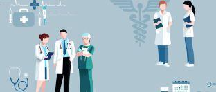 Ärzte, Zahnärzte, Apotheker: Bei Kunden aus medizinischen Berufen untersuchen Versicherungsmakler oftmals auch die betriebliche Absicherung.