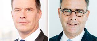 Frank Sommerfeld (l.) und Klaus-Peter Röhler: Die Allianz Versicherungs-AG bekommt einen neuen Vorstandsvorsitzenden.