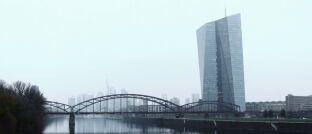 Das EZB-Gebäude in Frankfurt: Die Partner zweier EZB-Direktoren sollen auf Notenbank-Kosten auf Dienstreisen mitgeflogen haben.