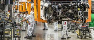 Montagelinie eines deutschen Automobilherstellers in Mexiko: Der gefestigte Binnenkonsum dürfte viele Schwellenmärkte vor dem Einfluss des Coronavirus schützen.