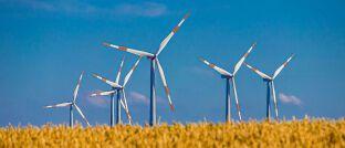 Windräder: Die EU-Kommission hat im Dezember den Entwurf eines zukünftigen Ökolabels für Investmentfonds vorgelegt.