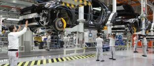 Produktion des Audi-Modells e-tron in Brüssel: Batterie-Recycling ist ein wesentlicher Bestandteil nachhaltiger Elektromobilität.