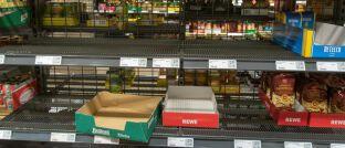 Ungewöhnlicher Anblick: Aus Angst vor einer Epidemie haben Kunden Supermärkte leergekauft.