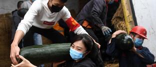 Gemüse-Lieferung in China: Die Folgen der Corona-Ausbreitung bleiben sichtbar