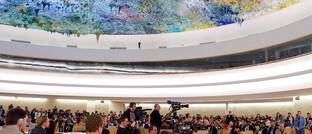 Tagung des UN-Menschenrechtsrats in Genf. Die Nicht-Achtung von Menschenrechten gehört zu den Top  10 der Ausschlusskriterien,  die nachhaltig anlegende Investoren nutzen