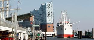 Blick von den Landungsbrücken in Hamburg: Die KVG Hamburg Asset Management baut ihre Geschäftsführung um.