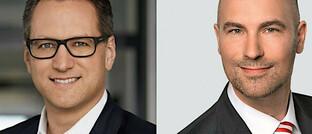 Vorstandsvorsitzender der JDC-Gruppe Sebastian Grabmaier (li.) und der für den Investmentbereich zuständige Vorstand von Jung, DMS & Cie. Oliver Lang