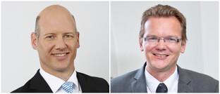 Jacques Wasserfall (l.) und Björn Bohnhoff: Der bisherige Verantwortliche für die Produktentwicklung im Vorstand der Zurich Deutscher Herold Lebensversicherung und sein Nachfolger.