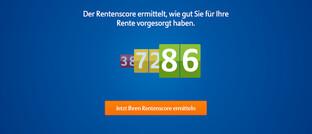Screenshot des kostenlosen Rentenrechners der Allianz: Ein neues Online-Angebot der Allianz soll den Nutzern einen besseren Überblick ihrer Altersvorsorge verschaffen.