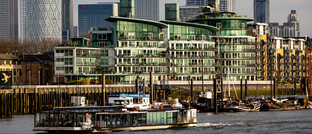 Bürogebäude im Londoner Stadtviertel Docklands, ehemaliges Hafengebiet