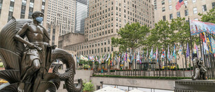 Platz vor dem Rockefeller-Center in New York