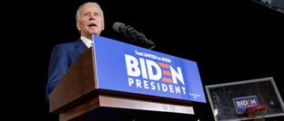 JoeTrump-Herausforderer Joe Biden auf einer Wahlkampfveranstaltung in Los Angeles.
