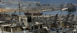 Der Schaden, den die Explosion im Hafen von Beirut am Dienstag angerichtet hat: Die Versicherer schätzen den materiellen Schaden auf bis zu 6 Milliarden US-Dollar ein.