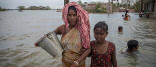 Opfer der durch den Zyklon Amphan ausgelösten Flutkatastrophe in West-Bengalen.