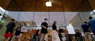 Apple-Store in Peking: Die gesellschaftliche Verantwortung von Unternehmen ist in der globalen Krise in den Fokus gerückt.
