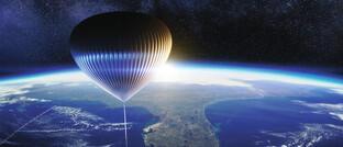 Wasserstoff-Ballon: Bis zu acht Passagiere sollen damit bis an den Rand des Weltraums  reisen können.