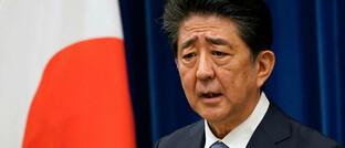 Shinzo Abe auf der Pressekonferenz am 28. August: An diesem Tag gab er seinen Rücktritt bekannt.
