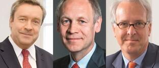 Christoph Bruns (Loys), Hendrik Leber (Acatis) und Georg Graf von Wallwitz (Eyb & Wallwitz)