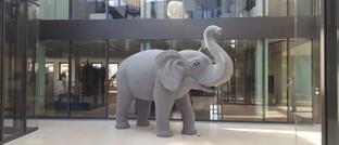 Ethenea-Maskottchen Elefant im Foyer des Luxemburger Hauptsitzes der Gesellschaft: Ethenea hat einen neuen Investment-Strategen eingestellt.