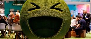 Smiley auf Digitalmesse: Der US-Technologieindex Nasdaq verzeichnete kürzlich einen kleineren Einbruch.