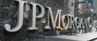 Logo von JP Morgan: Die Großbank soll den Markt manipuliert haben