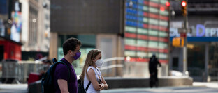 Fußgänger auf dem Times Square