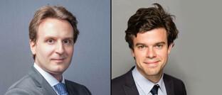 Kreditchef Pierre Verlé (links) und Anleihemanager Alexandre Deneuville