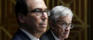 US-Finanzminister Steve Mnuchin (links) und Notenbankchef Jerome Powell: Dollar-Drücker unter sich.