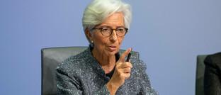 EZB-Chefin Christine Lagarde: Die Europäische Zentralbank steht vor großen Herausforderungen, um eine weitere Konjunkturerholung und irgendwann einen Wiederanstieg der Inflation zu erreichen.