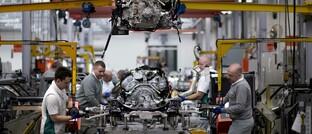 Motormontage im Bentley-Werk