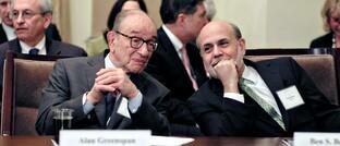 Ehemalige Fed-Chefs Alan Greenspan und Ben Bernanke (2013)