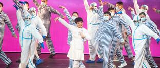 Tanzgruppe in Wuhan