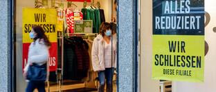 Ein Duisburger Einzelhändler schließt