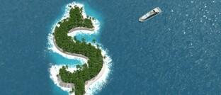 Illustration einer Dollar-Insel