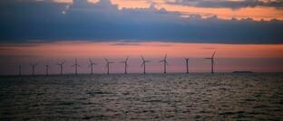 Offshore-Windpark vor der Küste Dänemarks