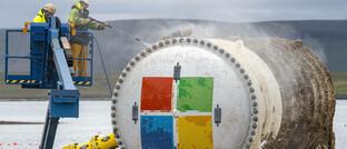 Der wasserdichte Container ist Teil des geplanten Unterwasser-Datencenters von Microsoft