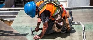 Körperliche Arbeit auf der Baustelle