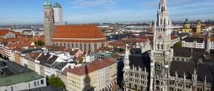 Blick auf die Münchner Innenstadt