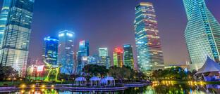 Finanzdistrikt in Shanghai