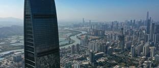 Skyline der 13-Millionen-Einwohner-Metropole Shenzhen
